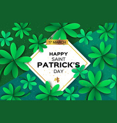 happy st patricks day greetings card four and vector image