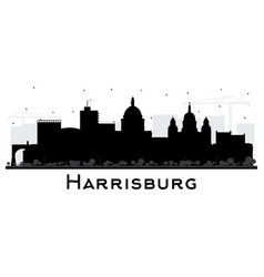Harrisburg pennsylvania city skyline silhouette vector