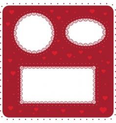 heart boarder vector image vector image