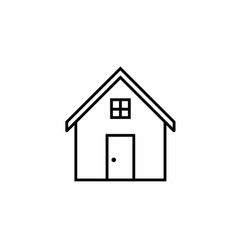 house line icon home and building sign vector image