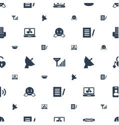 internet icons pattern seamless white background vector image