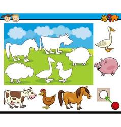 Kindergarten task for preschoolers vector