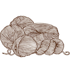 Knitting logo vector
