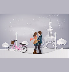 Love and winter season vector