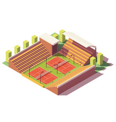 low poly tennis stadium vector image