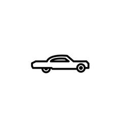 low rider car icon line style icon vector image