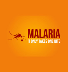 Malaria on orange background style vector