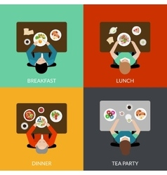Meal time set vector