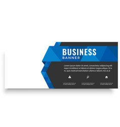 modern blue ribbon design business banner i vector image