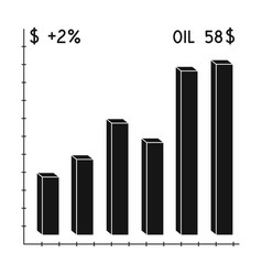 oil price chartoil single icon in black style vector image