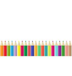 pencils border vector image