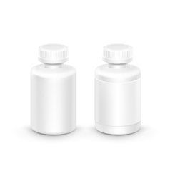 Plastic Packaging Bottle with Cap for Pills vector image