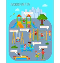 Playground Safety Tips Poster vector