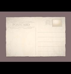 Postcard blank vector image