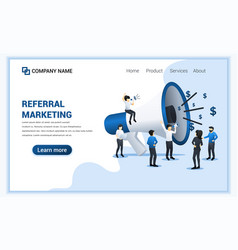 referral marketing concept with group people vector image