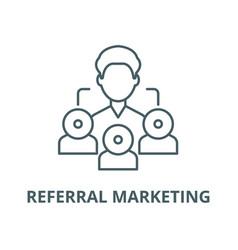Referral marketing line icon linear vector