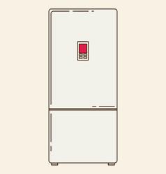 refrigerator flat vector image