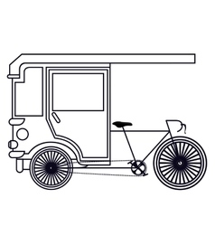 rickshaw india isolated icon design vector image