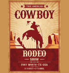 rodeo invite template vector image