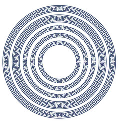 Round frame with greek pattern vector