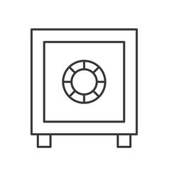 safe box police related outline icon editable vector image