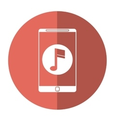 smartphone music note digital app shadow vector image