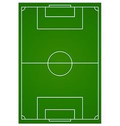 Soccer or football field aerial vector image