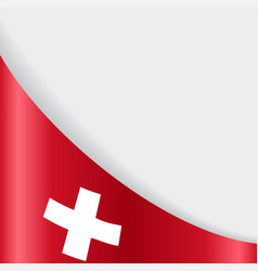 Swiss flag background vector