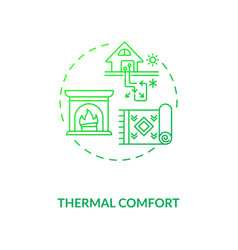 Thermal comfort green concept icon vector