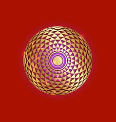torus yantra gold hypnotic eye sacred geometry vector image