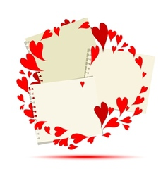 Valentine frame design place for your photo or vector image