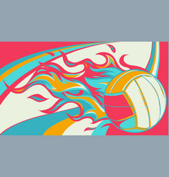 Volleyball ball with simple vector