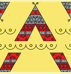wigwam injuns seamless pattern vector image