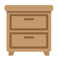 bedside table flat icon furniture and interior vector image vector image