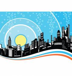 city ripple vector image
