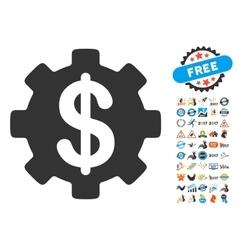 Development Cost Icon With 2017 Year Bonus Symbols vector image