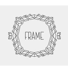 Hand drawn emblem abstract template Elegant linear vector image vector image