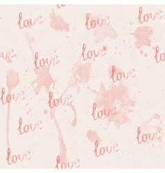 seamless pink background with watercolor stains vector image vector image