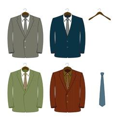 suit coats vector image vector image