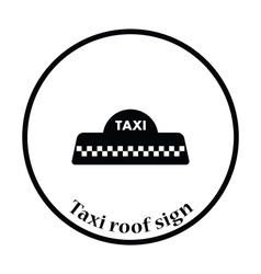 Taxi roof icon vector image
