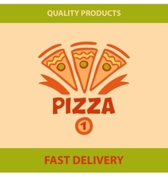 Template logo pizza pizzeria vector image