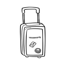 travel bag doodle vector image vector image