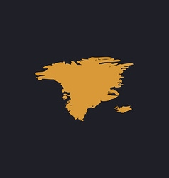Alaska computer symbol vector image vector image