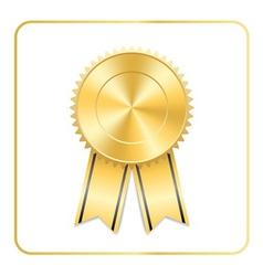 Award ribbon gold icon vector