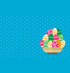 Background easter egg art vector