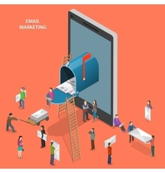 Email marketing flat isometric concept vector image