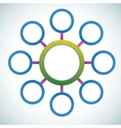 Presentation color circles template vector image