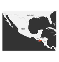 el salvador orange marked in political map of vector image