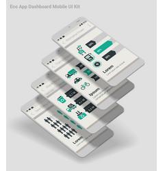 flat design admin dashboard eco new energy vector image