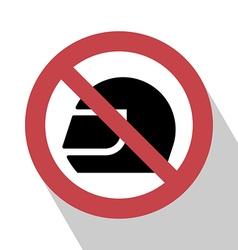 No Helmet Sign vector image
